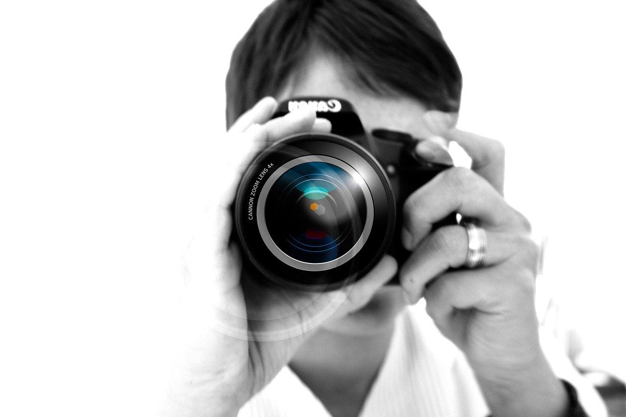photographer, camera, hand